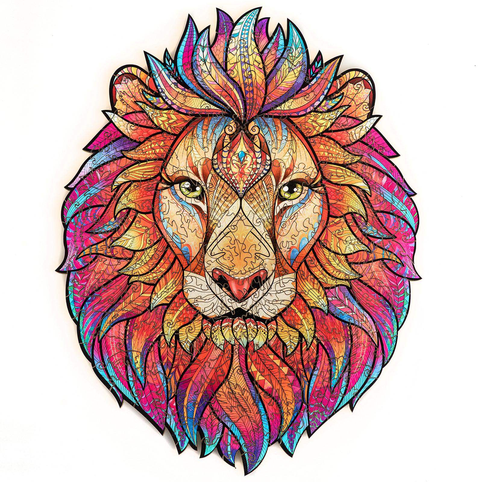 Unidragon деревянный пазл «Таинственный лев» KS (А3)