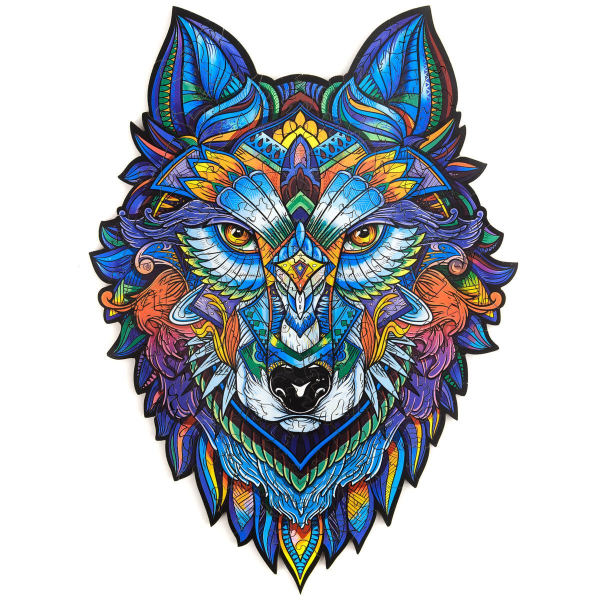 Unidragon деревянный пазл «Величественный Волк» M (33х24) см А4