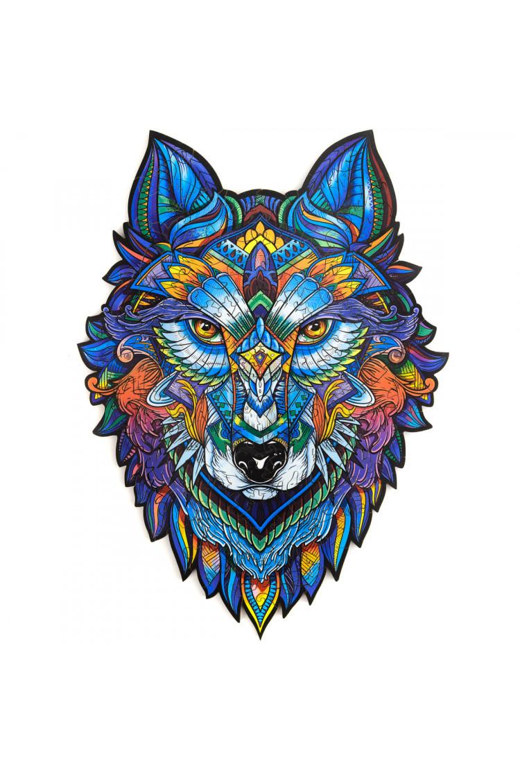 Unidragon деревянный пазл «Величественный Волк» S (24х17) см А5