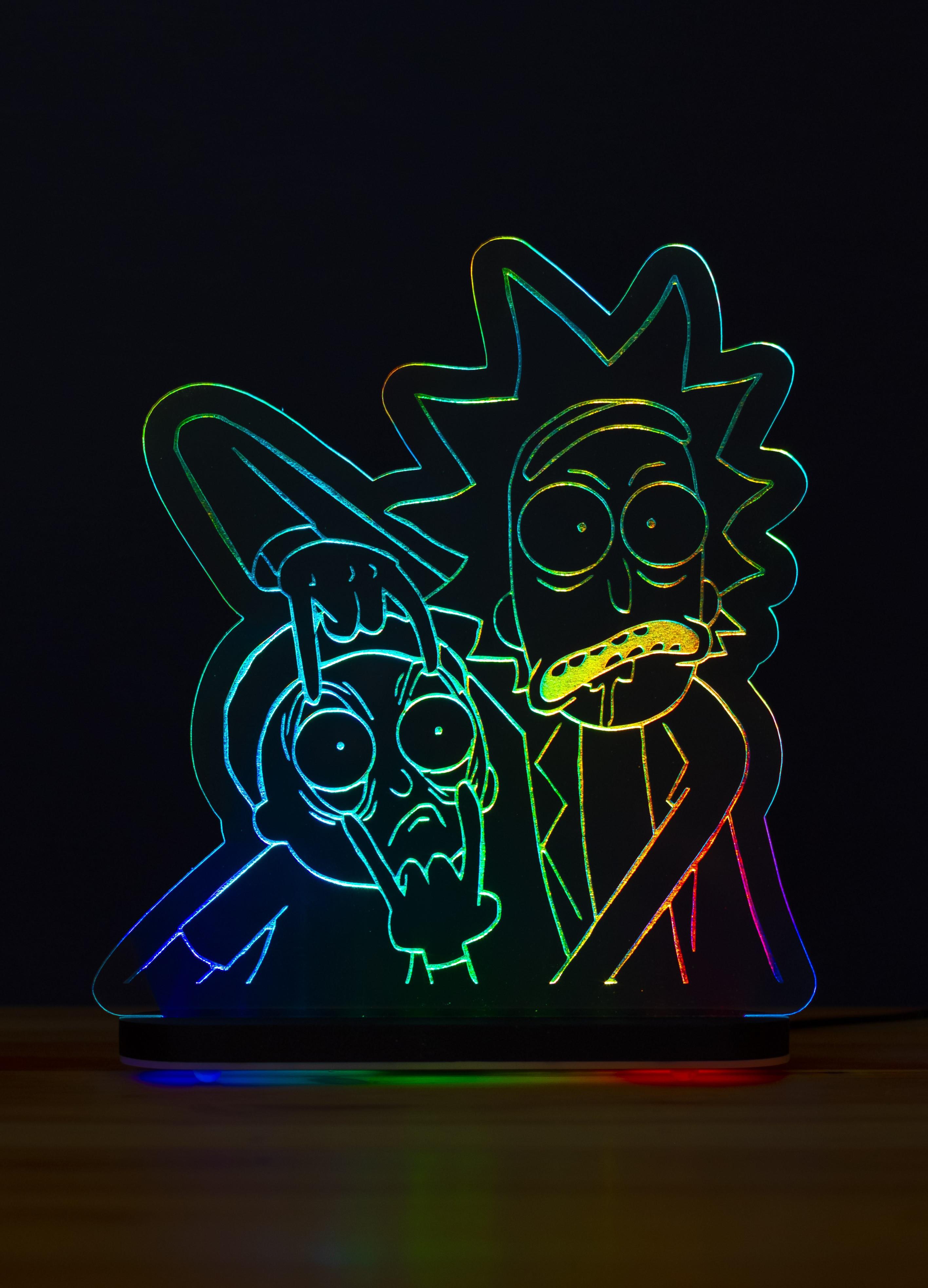 3D светильник Рик и Морти (21*20)