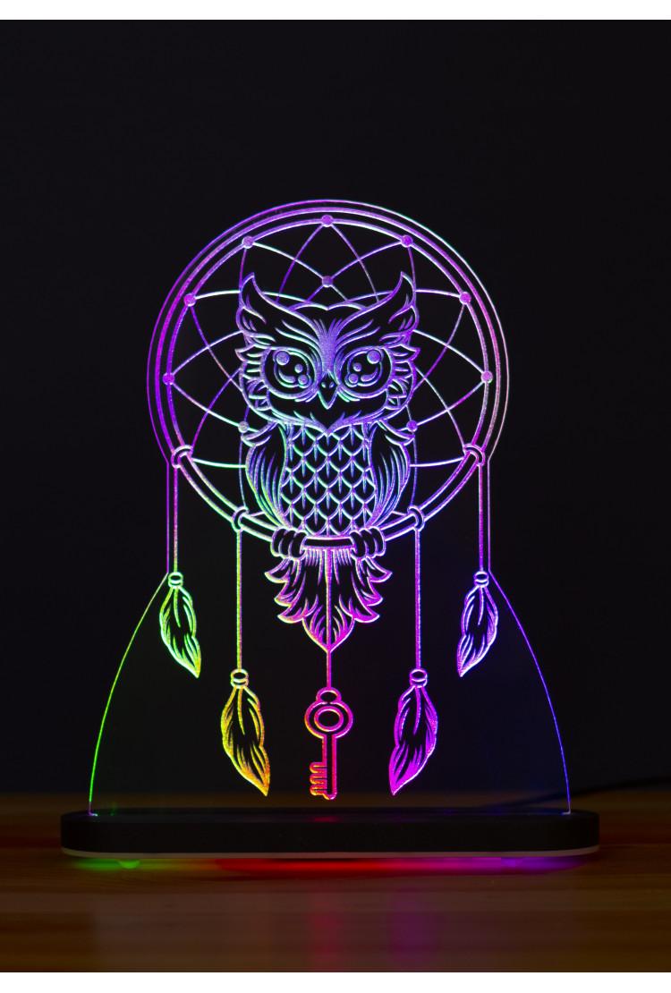 3D светильник Хранитель ключа. Сова (21*17)
