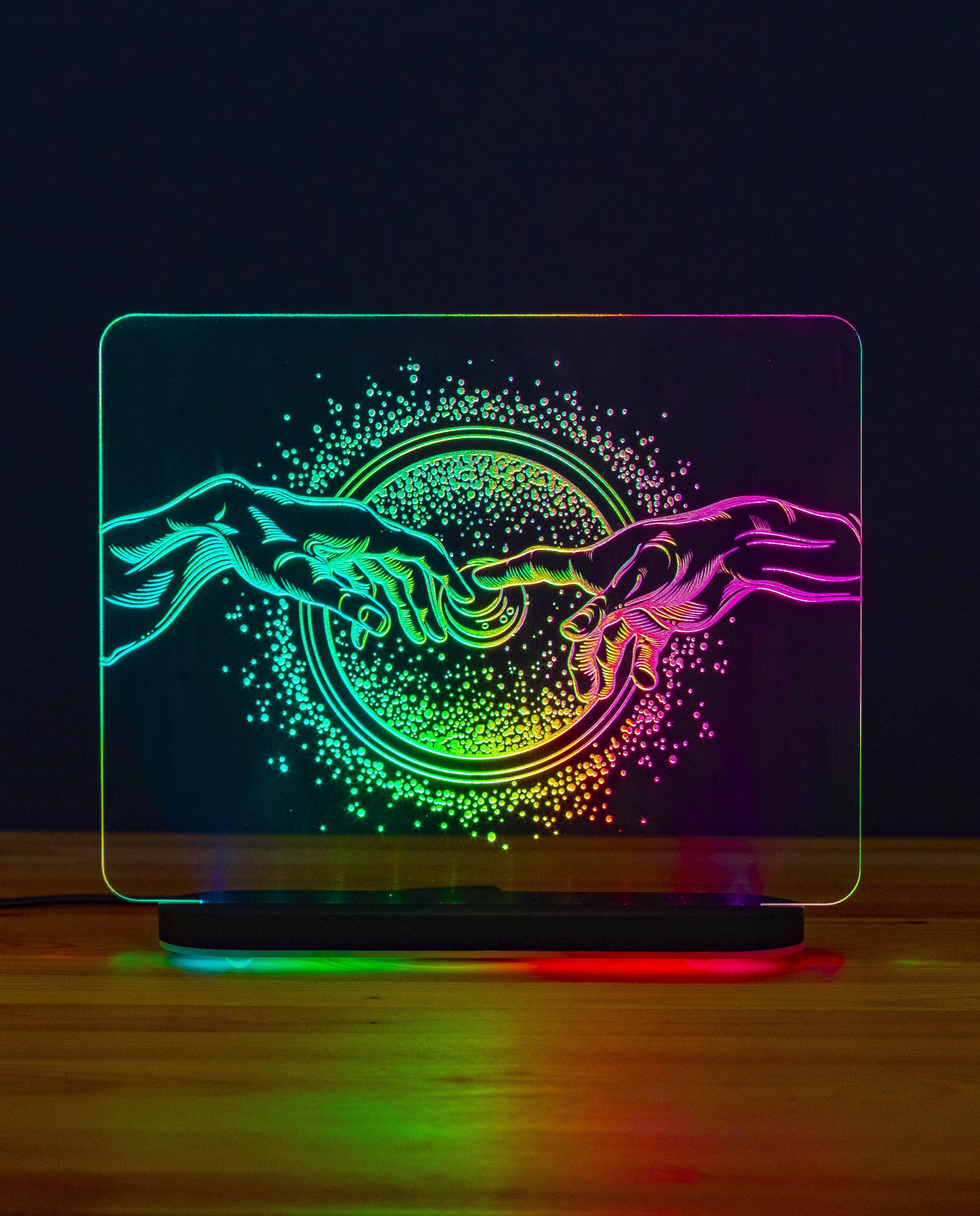 3D светильник Сотворение. Галактика (21*17)
