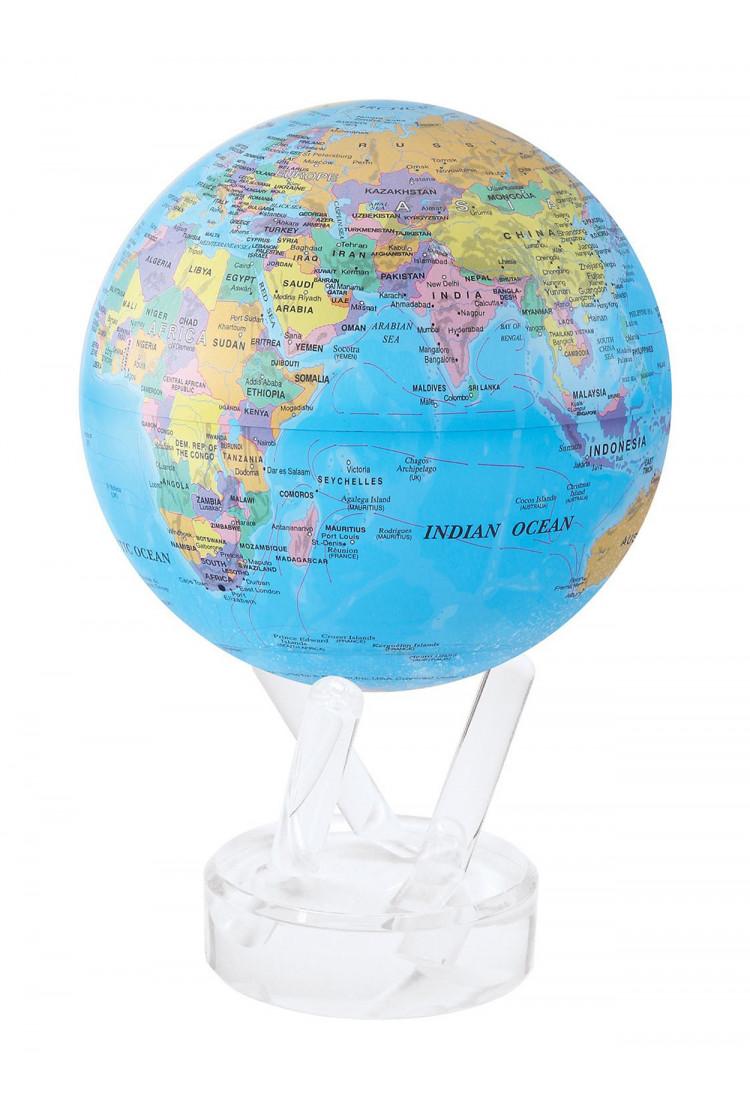 Самовращающийся глобус MOVA GLOBE d16 см с политической картой Мира