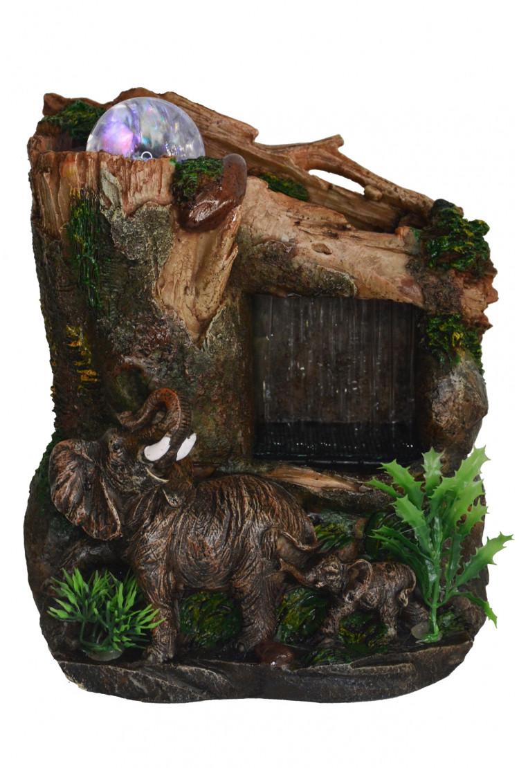 """Декоративный настольный фонтан """"Слон и слоненок"""""""