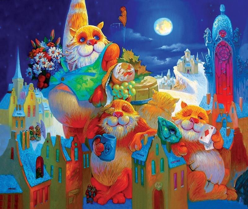 """Деревянный пазл: DaVICI """"Праздник полной луны"""" (195 деталей)"""