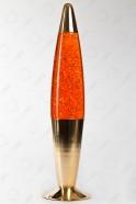 Лава-лампа 41см Хром Оранжевая/Блёстки (Глиттер)