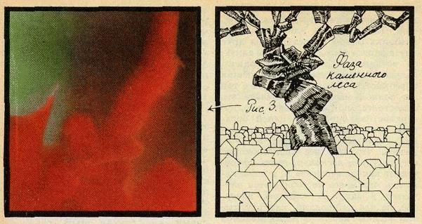 Фаза каменного леса лава-лампы
